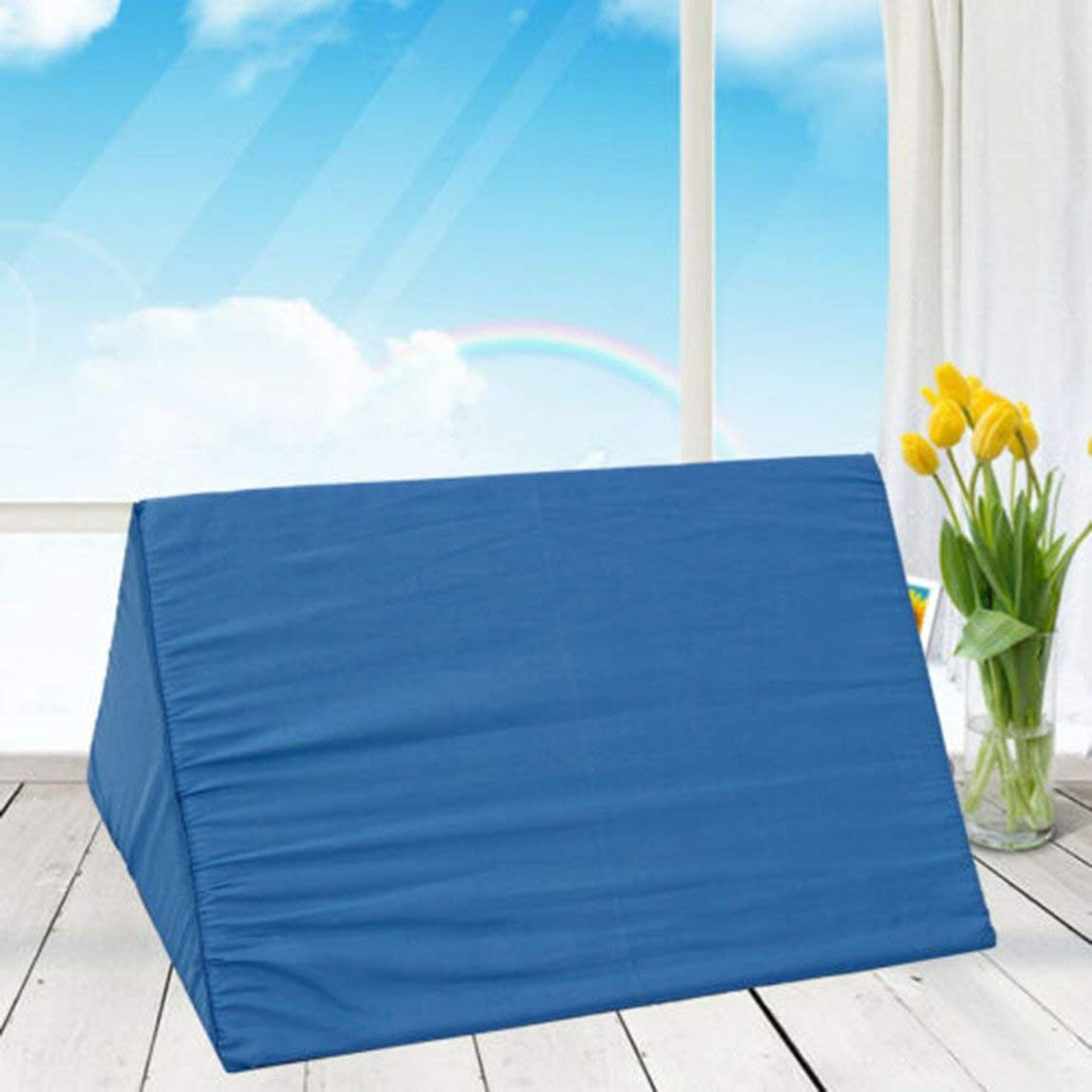 Cuscinetto per postura chirurgica R-Type Cuscino per ribaltamento Cuscino triangolare Riabilitazione Arto superiore Cuscino per il corpo laterale Cuscino girevole colore: blu dimensioni: 50 * 25 * 20 cm