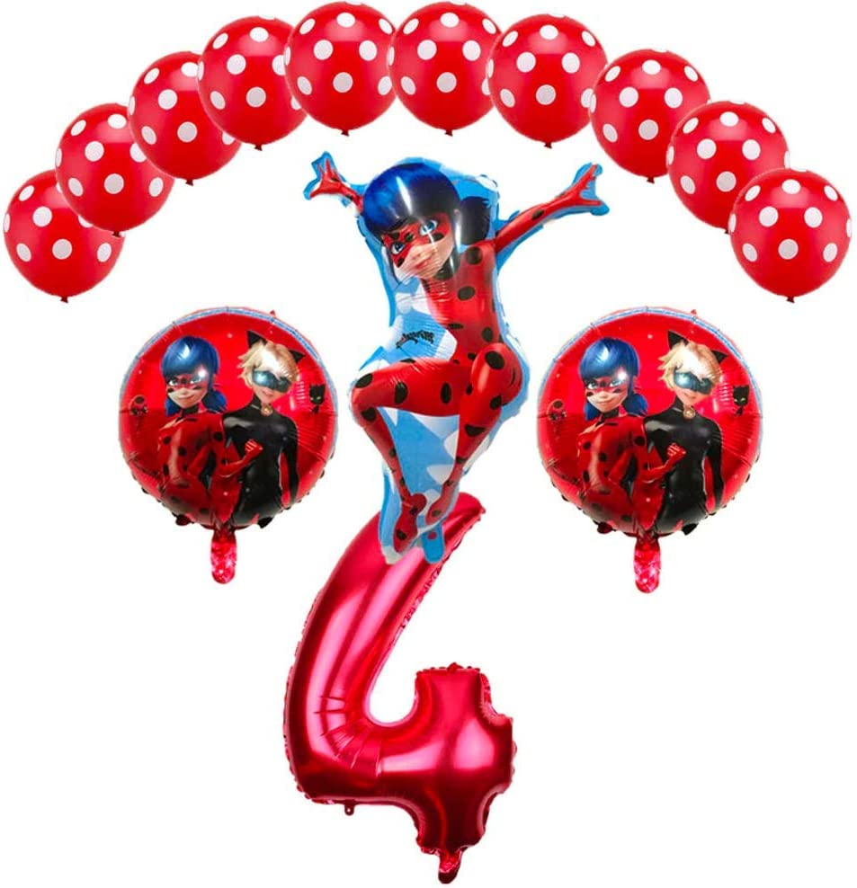 Official MIRACULOUS LADYBUG Party BALLOONS Latex 6 Pack 12 Inch Girls Birthday
