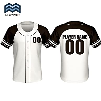0374d2b430c Custom Full Button Baseball Jersey with Player Name and Numbers White Black  Uniform (S