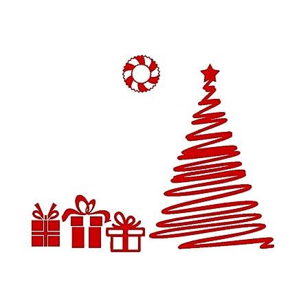 Adesivi Buon Natale.Vosarea Buon Natale Adesivi Albero Collant Di Finestra In