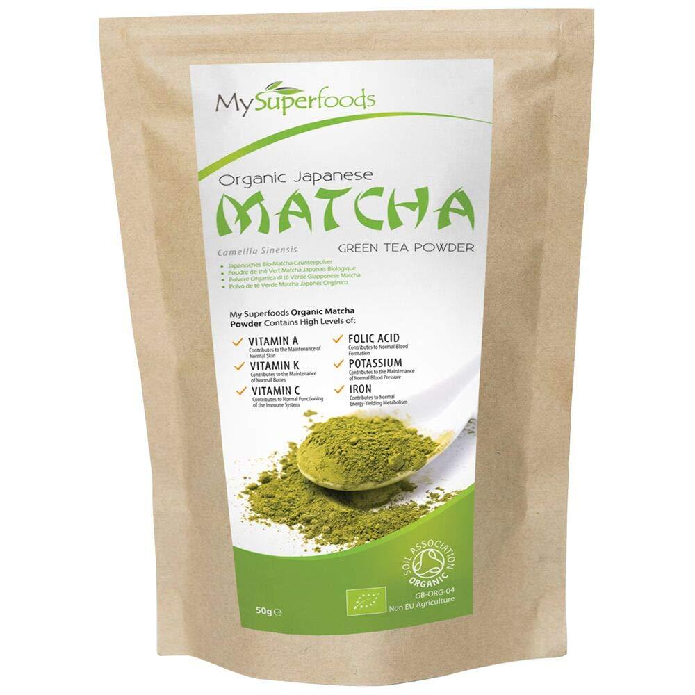 Té verde Matcha (100 gramos) | MySuperFoods | Más antioxidantes que cualquier otro alimento | Fuente de nutrientes que incluyen vitamina A, C y K | Té ...