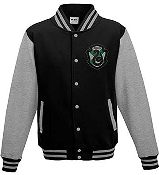 Official Harry Potter House Slytherin College Varsity Jacket X