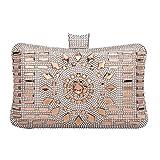 Women's Diamante Evening Clutch Wedding Clutch Purse Bridal Prom Handbag Party Bag