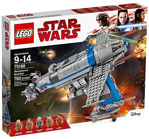 LEGO Star Wars Episode VIII Resistance Bomber 75188 Building Kit (780 Piece)