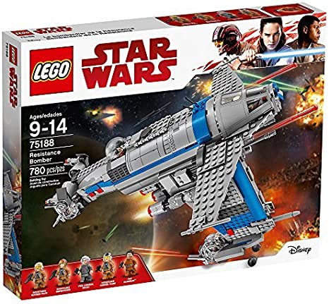 Amazon Com Lego Star Wars Episode Viii Resistance Bomber 75188 Building Kit 780 Piece Toys Games