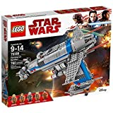 Play out action-packed LEGO Star Wars: Episode VIII missions with the Resistance Bomber. This feature-packed model includes a button-activated bomb release function, spring-loaded shooters, 2 opening rear gun turrets with space for a minifigure, elev...