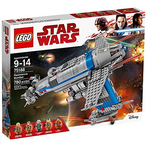 LEGO Star Wars Episode VIII Resistance Bomber 75188 Building Kit (780 Piece) (Best Things To Alch)