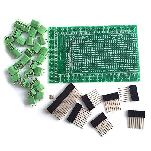 Board Shield - WINGONEER® Prototype Screw/Terminal Block Shield Board Kit for Arduino MEGA 2560 R3 DIY
