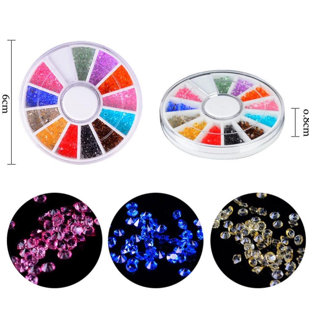 Nail Art,Putars Fashion Nail Jewelry Crystal Sand Beads DIY Micro Diamond Flash Drill Nail Decoration