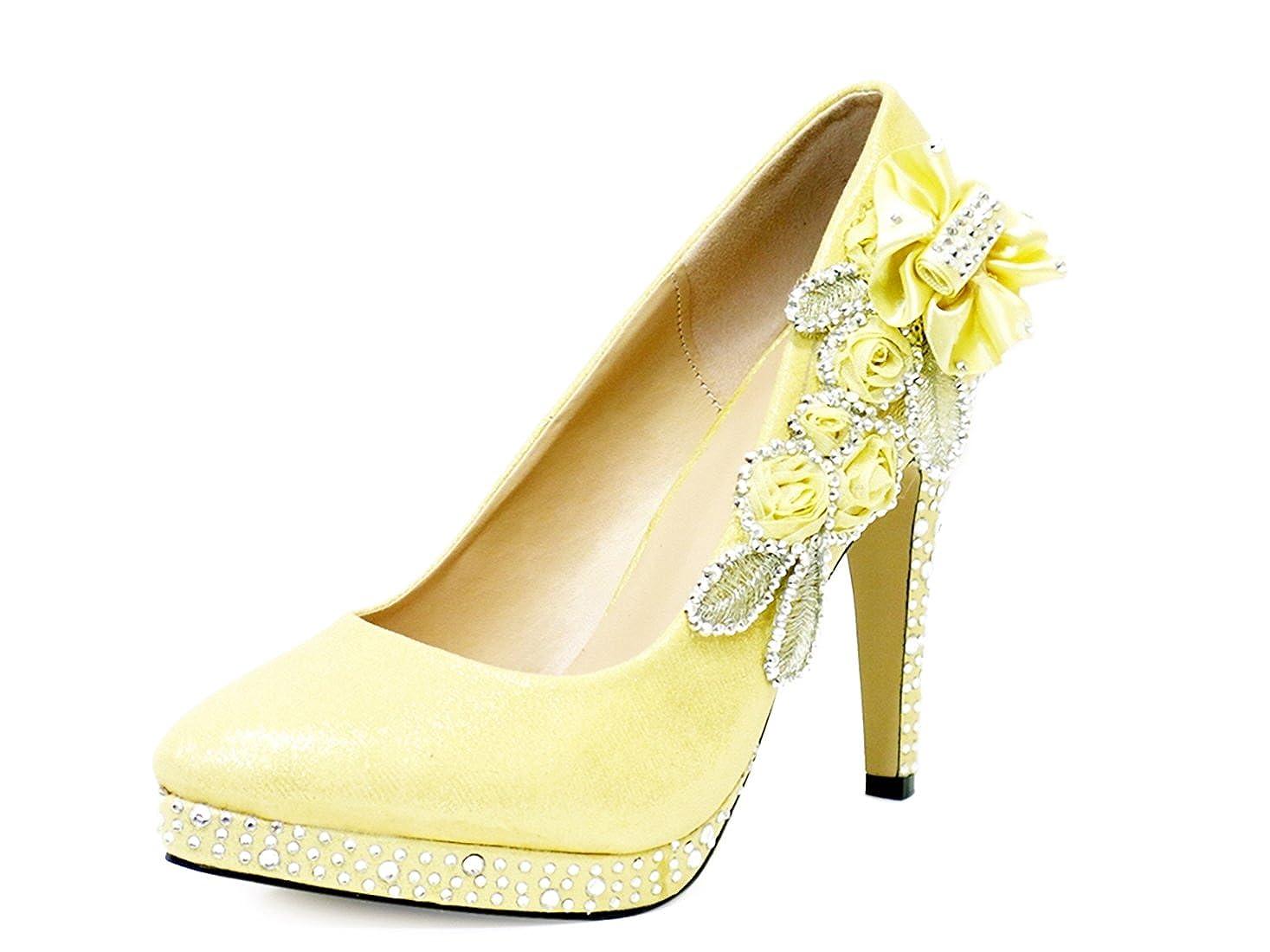 2cf3bfa5dcd5d Ktc Women s Glitter Gorgeous Crystal Wedding High Heel Shoes  Amazon.co.uk   Shoes   Bags