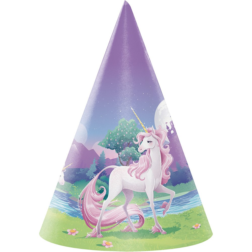 Creative Converting Child Size Paper Party Hats, Unicorn Fantasy, 48-Count