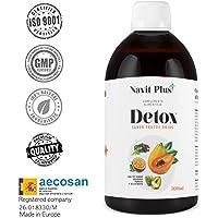 Detox dimagrante   Potente diuretico naturale liquido 500 ml gusto frutti di bosco   Formula detox drenante, antiossidante   Eliminazione delle tossine   Tè verde, guaranà, papaya, carciofo   VEGANO.
