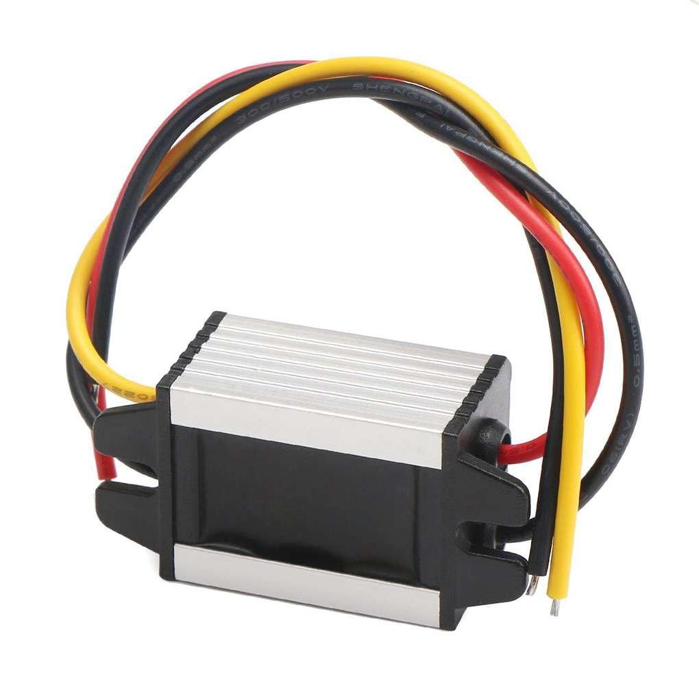 Bobury Voltaje Reductor DC reducen el convertidor 11-40V a 6V 3A DC Buck convertidor Anti-Choque 12V 24V a 6V 3A 2A