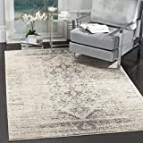 Safavieh Monaco Collection MNC209G Modern Abstract Grey and Multi Distressed Area Rug (12′ x 18′) Review
