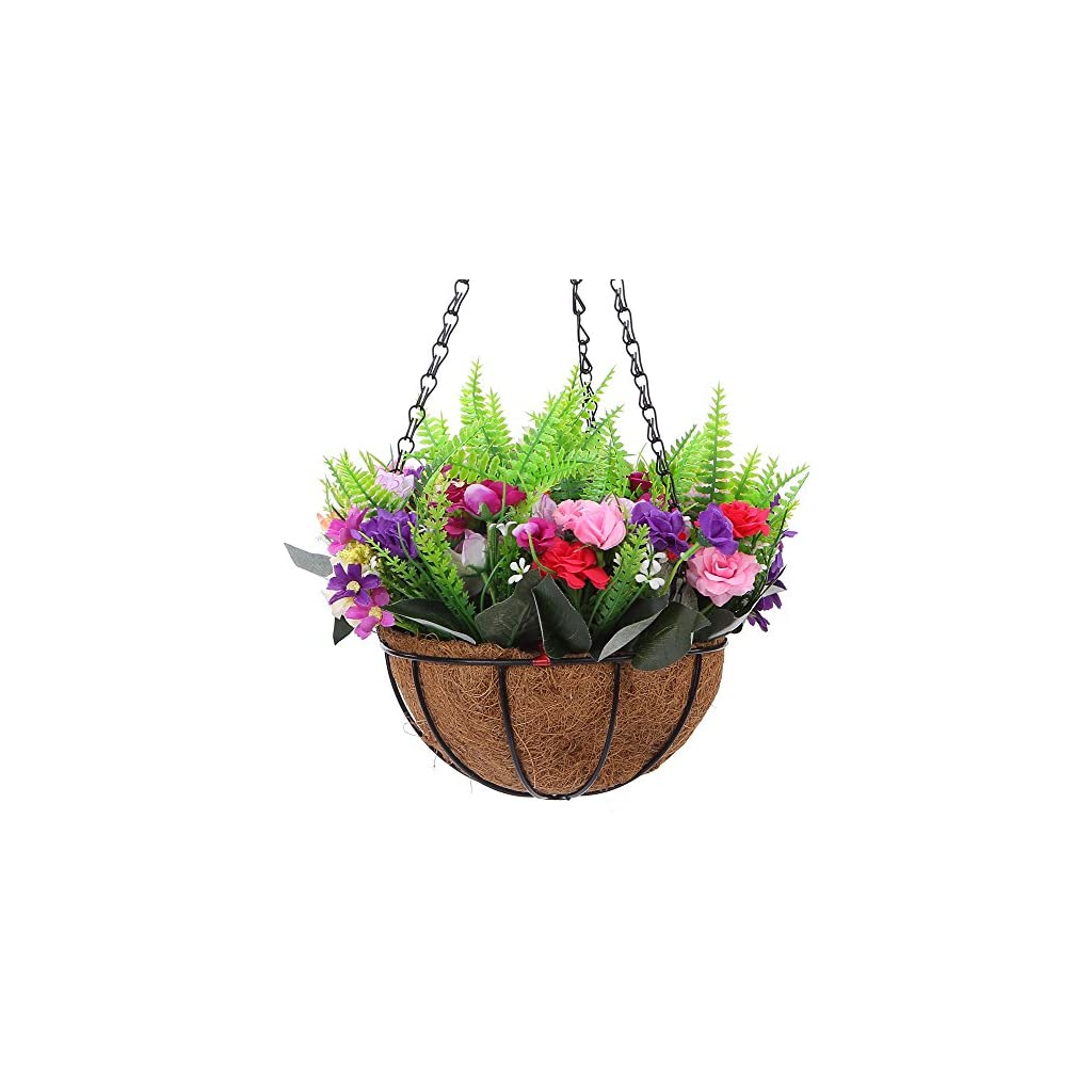 IBEUTES-Rose-Artificial-Hanging-Basket-Artificial-Hanging-Flower-Silk-Flower-Hanging-Basket-with-Chain-Flowerpot-for-Home-Outdoor-Decoration-78-inch