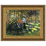 Design Toscano Woman with a Parasol in the Garden in Argenteuil, 1875: Canvas Replica Painti...