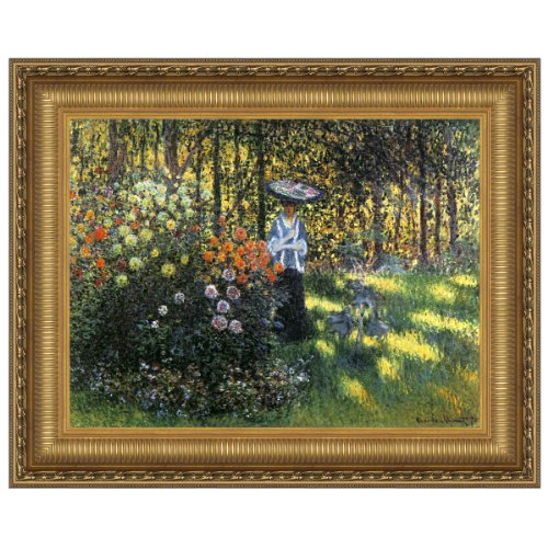 Design Toscano Woman with a Parasol in the Garden in Argenteuil, 1875: Canvas Replica Painti... by Design Toscano