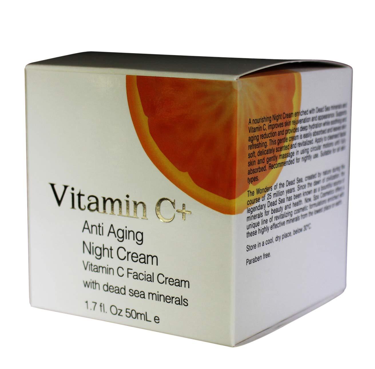 SPA Cosmetics Vitamin C+ Anti Aging Face Night Cream with Dead Sea Minerals