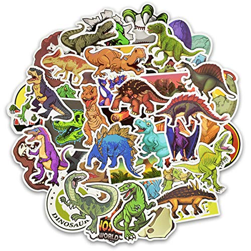 Meet Holiday Dinosaur Sticker 50 PCS PVC Waterproof Stickers for Laptop, Notebooks, Car, Bicycle, Skateboards, Luggage Decoration -