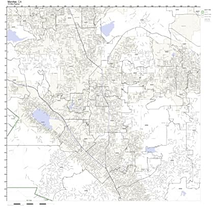 Amazon Com Menifee Ca Zip Code Map Laminated Home Kitchen