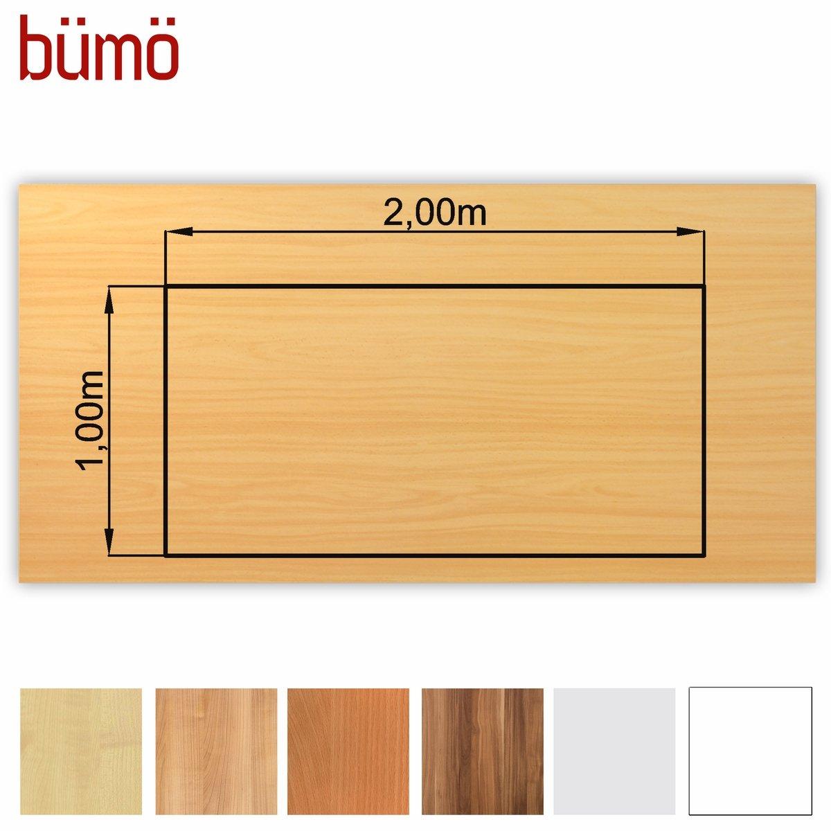 Schreibtischplatte massivholz  Bümö® stabile Tischplatte 2,5 cm stark - DIY Schreibtischplatte ...