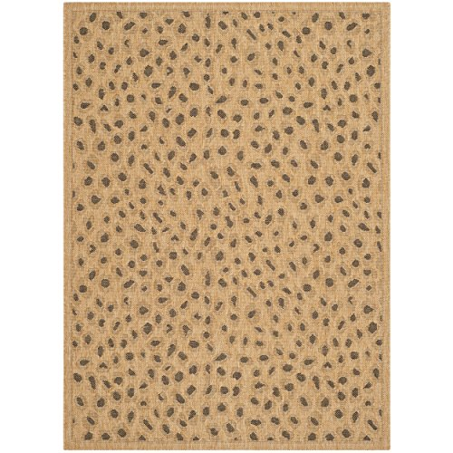 Safavieh Courtyard Collection CY6104-39 Natural and Gold Indoor/ Outdoor Area Rug (4' x 5'7