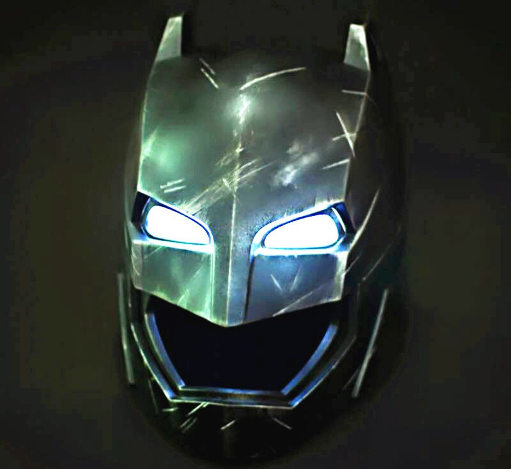 Gmasking 2016 Bat Dawn Of Justice Adult Armored Helmet Light-up Eyes 1:1 Replica