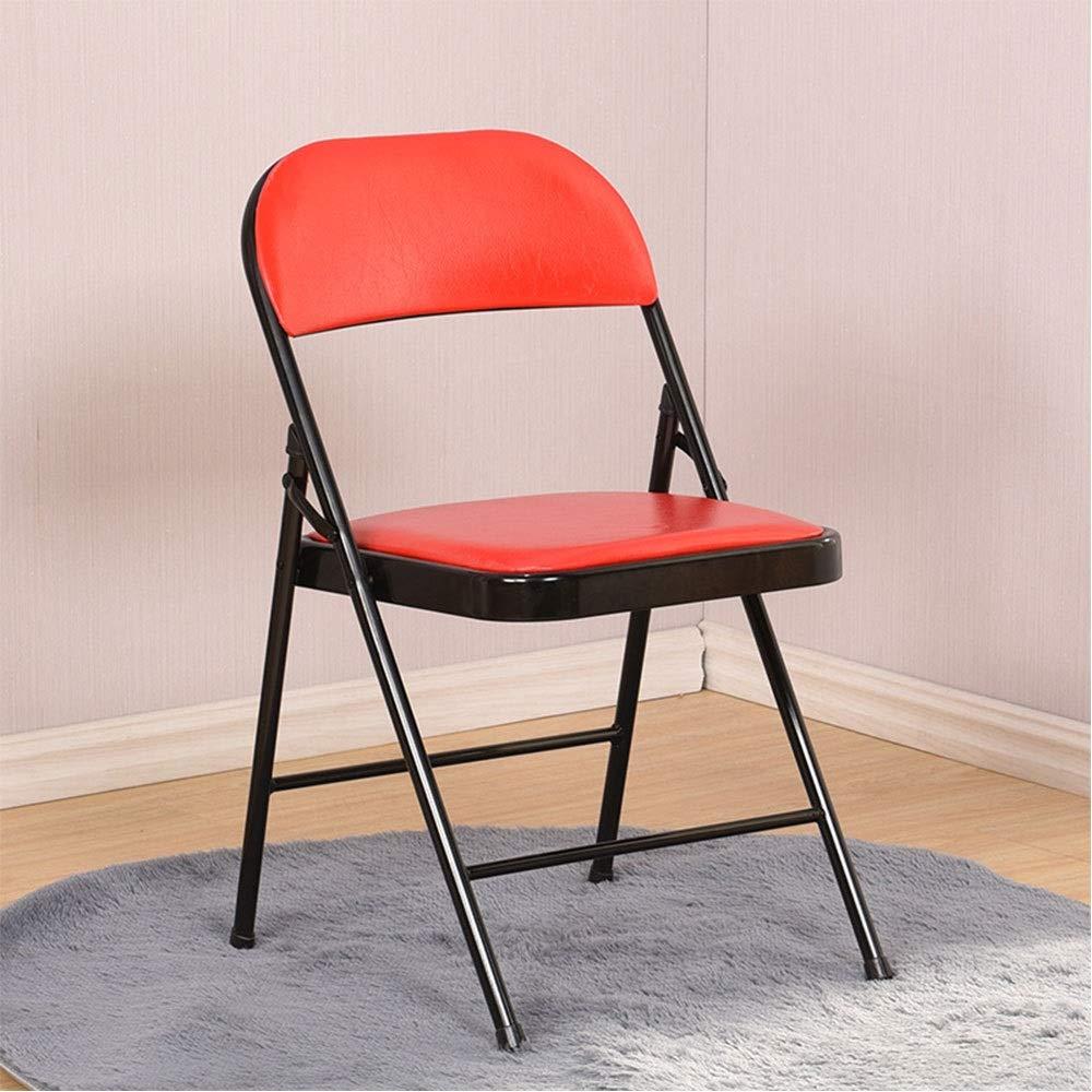 D  ZSLLO Tabouret simple dossier chaise maison chaise pliante portable dinant la chaise chaise de bureau chaise de conférence chaise d'ordinateur chaise de formation tabouret en bois (Couleur   A)