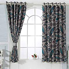Made of high quality 100% polyester, the inner diameter of the grommet is 1.6 inches.              Soft and durable, energy efficient              This grommet curtain Room Darkening Blackout Curtains , making the curtain panels look g...