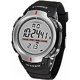 デジタル腕時計 メンズ 防水腕時計 スポーツウォッチ ledライト付き アラーム ストップウォッチ機能 12/24時刻切替え多機能 スポーツ 腕時計 30M防水時計 (ブラック)