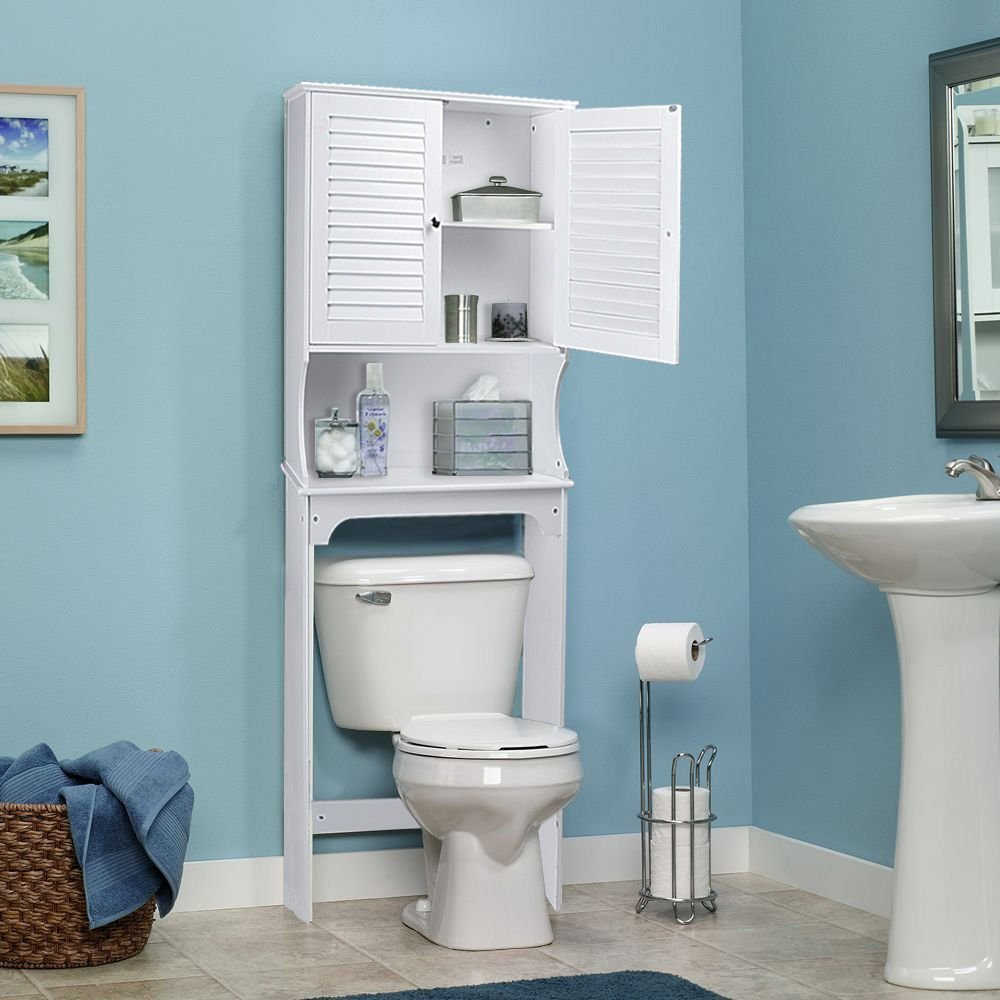 Life Carver Compact Bathroom Over The Toilet Space Saver Storage ...