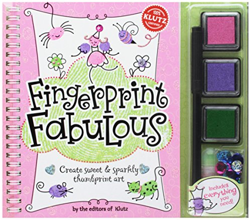 Fingerprint Art (Klutz Fingerprint Fabulous: Create Sweet and Sparkly Thumbprint Art Craft Kit)