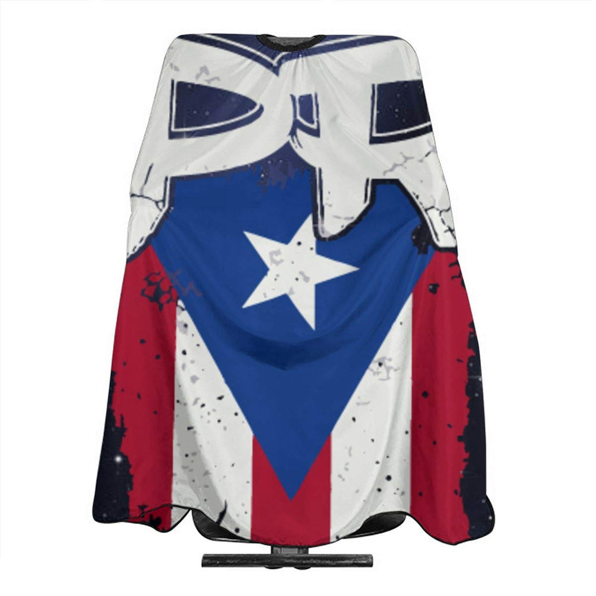 Puerto Rico PR Flag Boricua Hair Salon Cape For Stylist Hair Cutting Apron Barber Cover For Clients Styling Professional Home Hairdressing Dye Coloring
