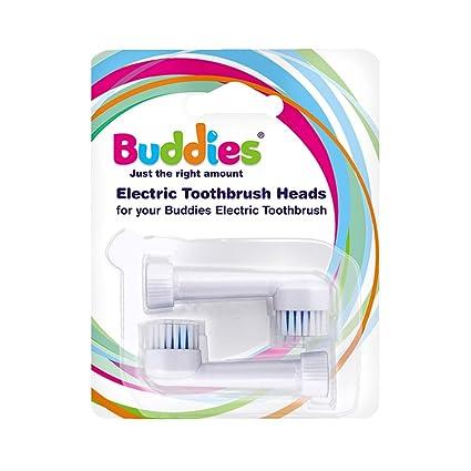 Cabezales de cepillo de dientes de repuesto para BUDDIESTM, paquete de dos