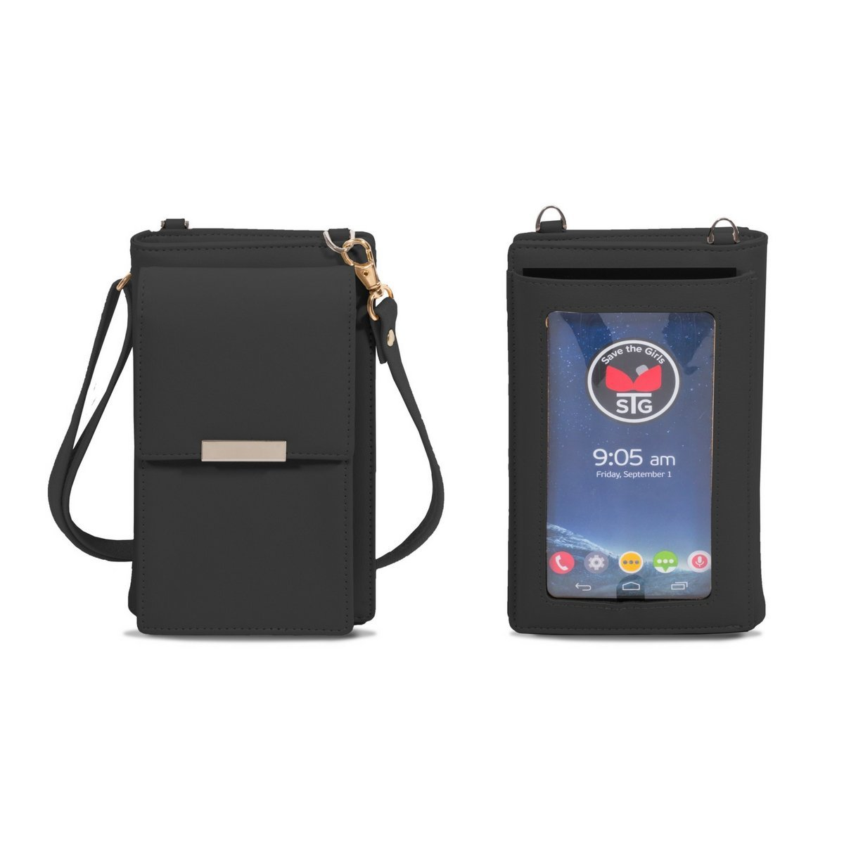 Eye Glass (Touch Screen) Cell Phone Wallet Purse - Black by Save the Girls Touch Screen Purses