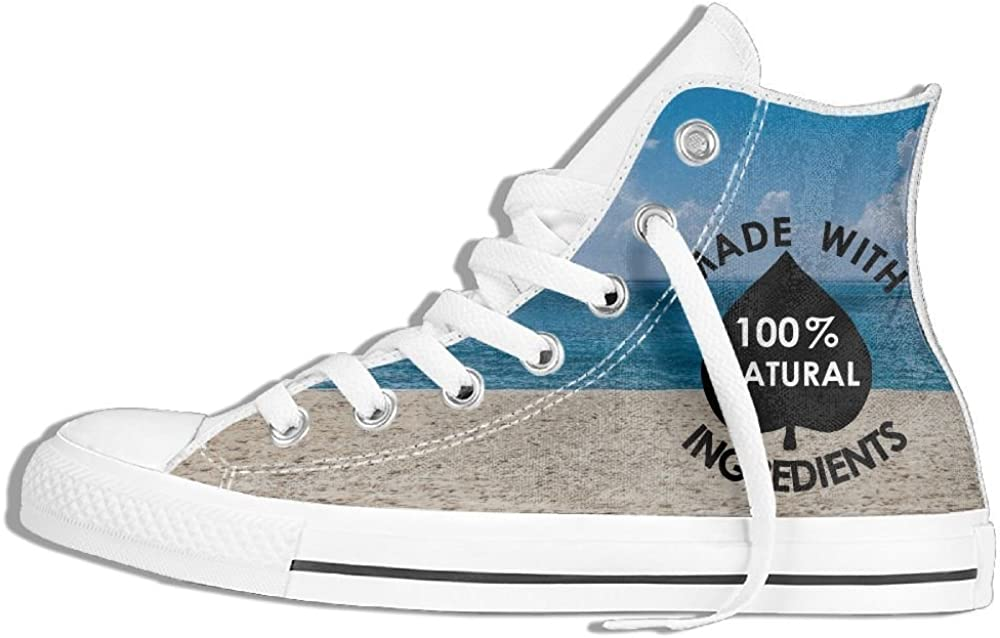 Icon Made With 100 Natural Ingredients Panties Unisex Fashion High Top Canvas Shoes Classic Lace Up Sneakers