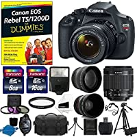 Canon EOS Rebel T5 DSLR CMOS Digital SLR Camera Bundle with Tripod, Carry Bag and Accessories (16 Items) Key Pieces Review Image
