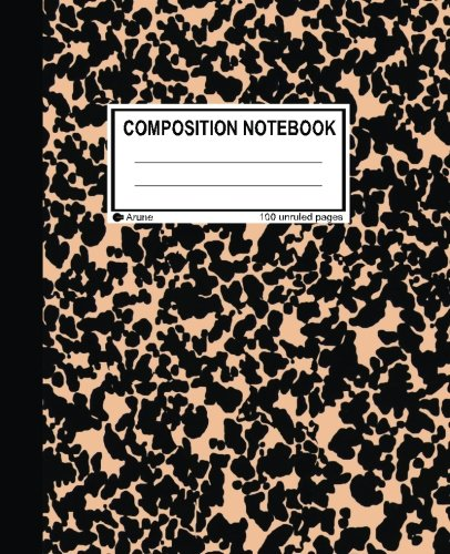 Unruled Composition Notebook: 100 unruled & numbered pages [50 sheets], perfect bound, composition style cover, 7.5