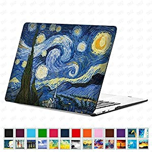 """DHZ MacBook Pro 15 Retina Case (Only Fit Model:A1398 NO CD-ROM Drive) - Romantic Starry Night Painting Plastic Hard Shell Cover For 15.4""""(NO Fit with Touch Bar Model:A1707 and NO Fit CD Drive A1286)"""