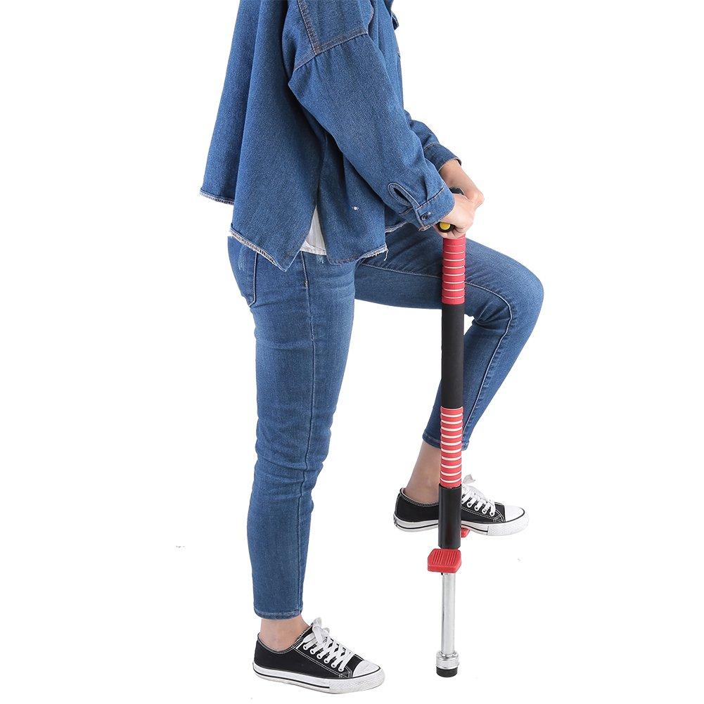 Blue Pogo Stick Jumper Outdoor Fun Jumping Stick Double Bar Sport Games Toy for Children
