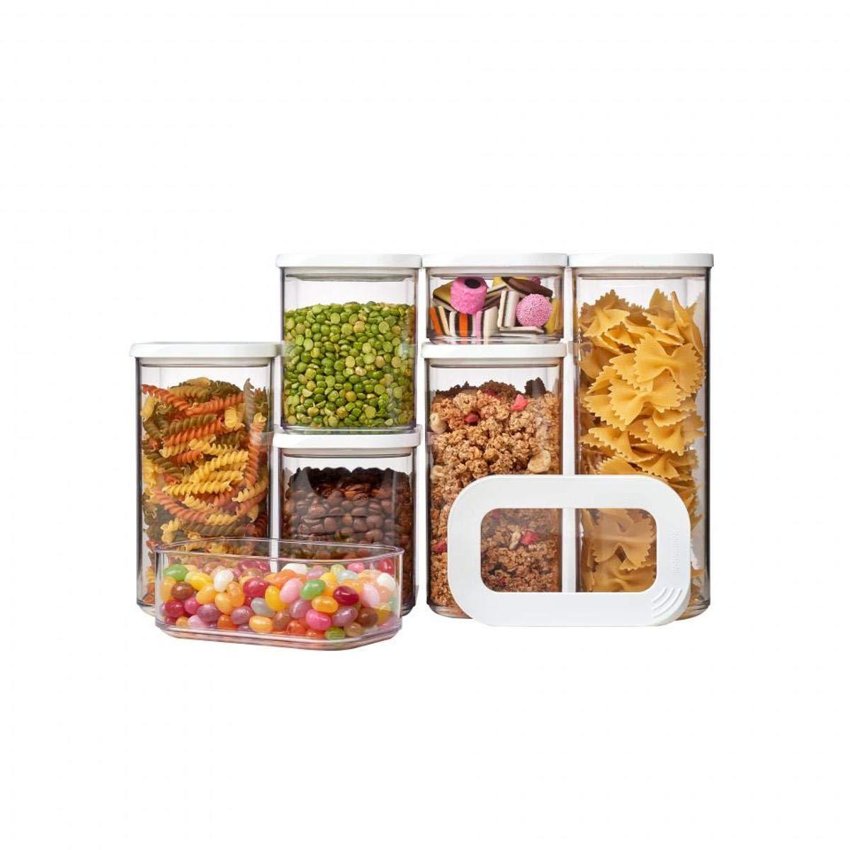36,5/x 15/x 22,2/cm bianco SAN Rosti Mepal 106994830600/Modula //polietilene in acrilonitrile-stirene Set di contenitori per la conservazione degli alimenti
