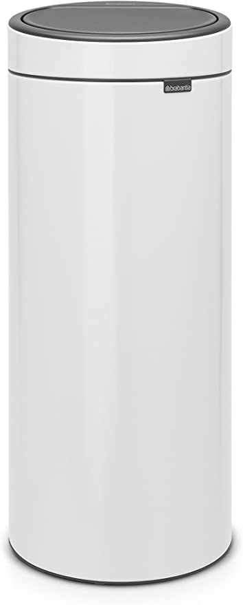 Brabantia 115141 Poubelle Touch Bin Unie New 30 L Blanc