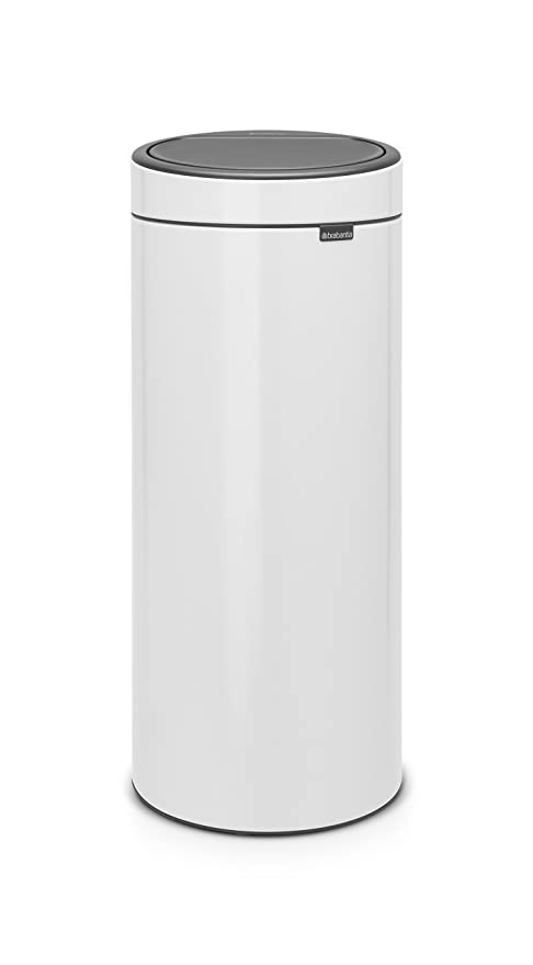 Awe Inspiring Brabantia 115141 Touch Trash Can New 8 Gallon White Bralicious Painted Fabric Chair Ideas Braliciousco