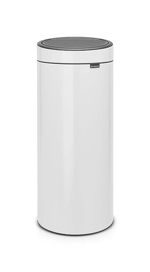 Brabantia 115141 Touch Trash Can New, 8 gallon, White