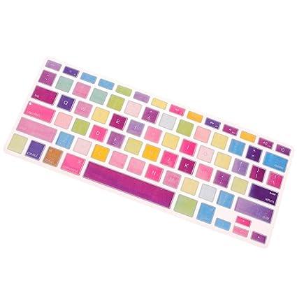 Sharplace Cubierta de Teclado Silicón Piel Impermeable Accesorios de Ordenador Herramienta Fácil de Usar - Estilo