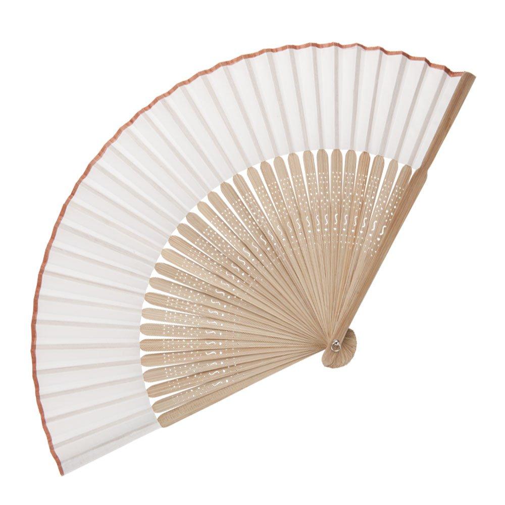 Abanico de madera de bambú