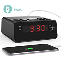 Clock Radio, Digital FM Alarm Clock Radio with USB Charger Port for Bedroom