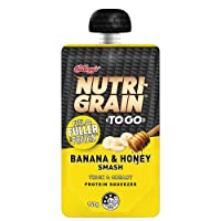 Kellogg's Nutri-Grain to GO Protein Squeezer Banana & Honey Smash, 6 x 140 g