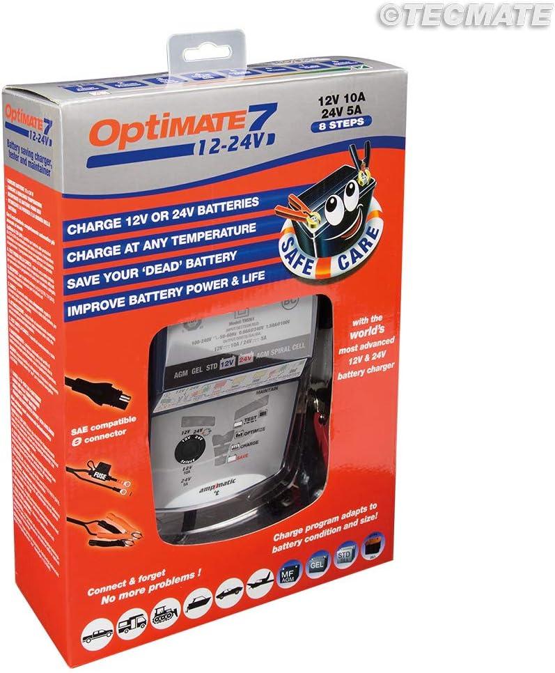 manutentore e Tester 8 Fasi 5A 12V 2.5A 24V Caricabatterie con Recupero di Batteria Tecmate Optimate 6 TM194