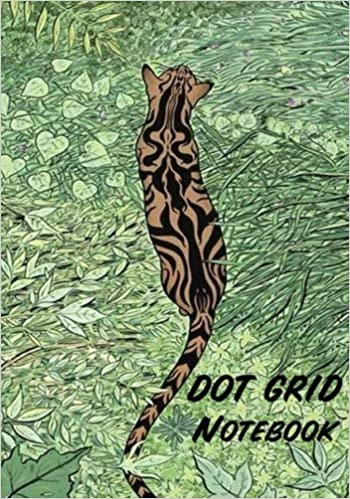 Dot Grid Notebook : Tiger in the forest: 110 Dot Grid pages, 7